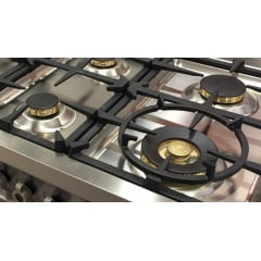 Fogão Professional 6 Queimadores 119,5cm 2 Fornos Grill de Mesa Laranja Bertazzoni
