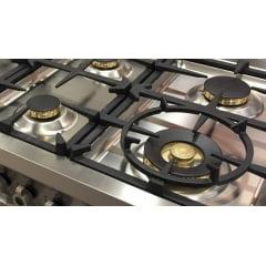 Fogão Professional 6 Queimadores 119,5cm 2 Fornos Grill de Mesa Vinho Bertazzoni