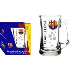 CANECA SCANDINAVIA 355 ML BARCELONA DECORADO GLOBIMPORT TRANSPARENTE