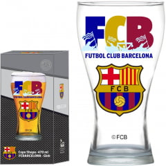 COPO SHAPE 470 ML BARCELONA FCB GLOBIMPORT TRANSPARENTE