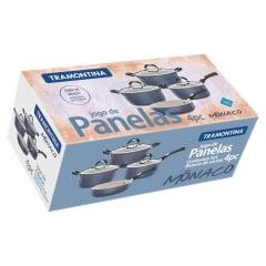 Jogo de Panelas Tramontina Azul 4 Peças Alumínio Antiaderente Starflon T3