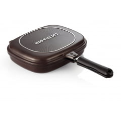 PANELA DIAMOND DOUBLE PAN JUMBO GRILL MARROM HAPPYCALL