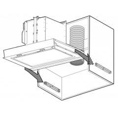 Coifa de Embutir 60cm Iluminação LED 220v Filo Elica