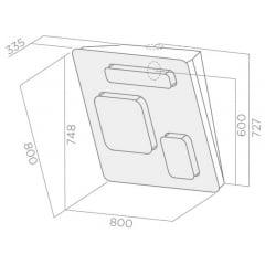 Coifa de Parede 80cm Ativação por Sensor de Proximidade Feel Elica