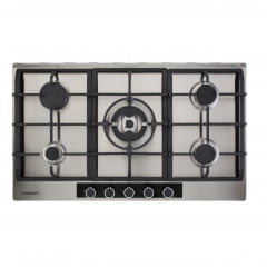 COOKTOP CUISINART CASUAL COOKING A GÁS 5 QUEIMADORES 90CM MC. CENTRAL INOX 220V