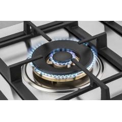 COOKTOP ELANTO PROFESSIONAL A GAS 4 QUEIMADORES 60CM INOX 220V