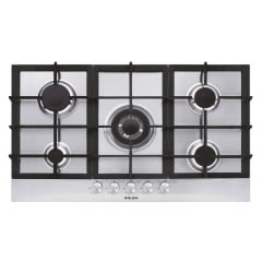 COOKTOP MATRIX GLEM 86CM A GAS 5 QUEIMADORES MC.CENTRAL INOX 220V
