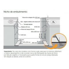 FOGÃO BERTAZZONI MASTER LINE PISO/EMBUTIR 4 QUEIMADORES A GÁS FORNO ELÉTRICO VENTILADO DE 9 FUNÇÕES COM CHURRASQUEIRA COR INOX 60CM 220V