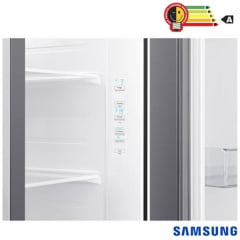 REFRIGERADOR SAMSUNG INVERTER FROST FREE SIDE BY SIDE COM ALL AROUND COOLING E SPACEMAX RS65R5411M9 617 LITROS INOX LOOK 220V