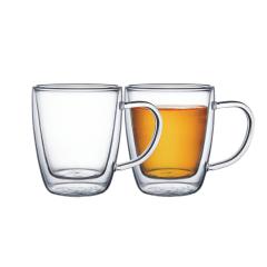 Jogo de Xícaras para Café e Chá Vidro Duplo com Alças 2 Peças Tramontina
