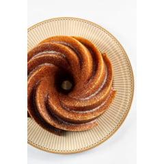 FORMA PARA BOLO MARISSA LOUNINA EM ALUMÍNIO FUNDIDO COM ANTIADERENTE CAKE PAN BRONZE 24CM 2,1 LITROS