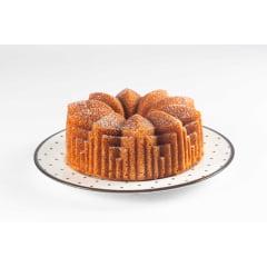 FORMA PARA BOLO MARISSA LOUNINA EM ALUMÍNIO FUNDIDO COM ANTIADERENTE DECO CAKE PAN BRONZE 24CM 2,1 LITROS