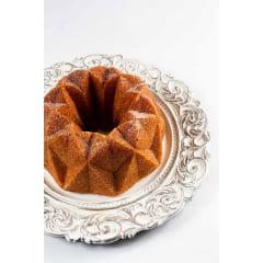 FORMA PARA BOLO MARISSA LOUNINA EM ALUMÍNIO FUNDIDO COM ANTIADERENTE SPANGLE CAKE PAN BRONZE 23CM 2,1 LITROS