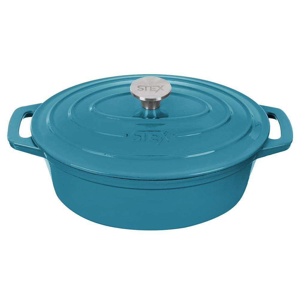 Caçarola oval aquamarine 28cm Stex Cookware
