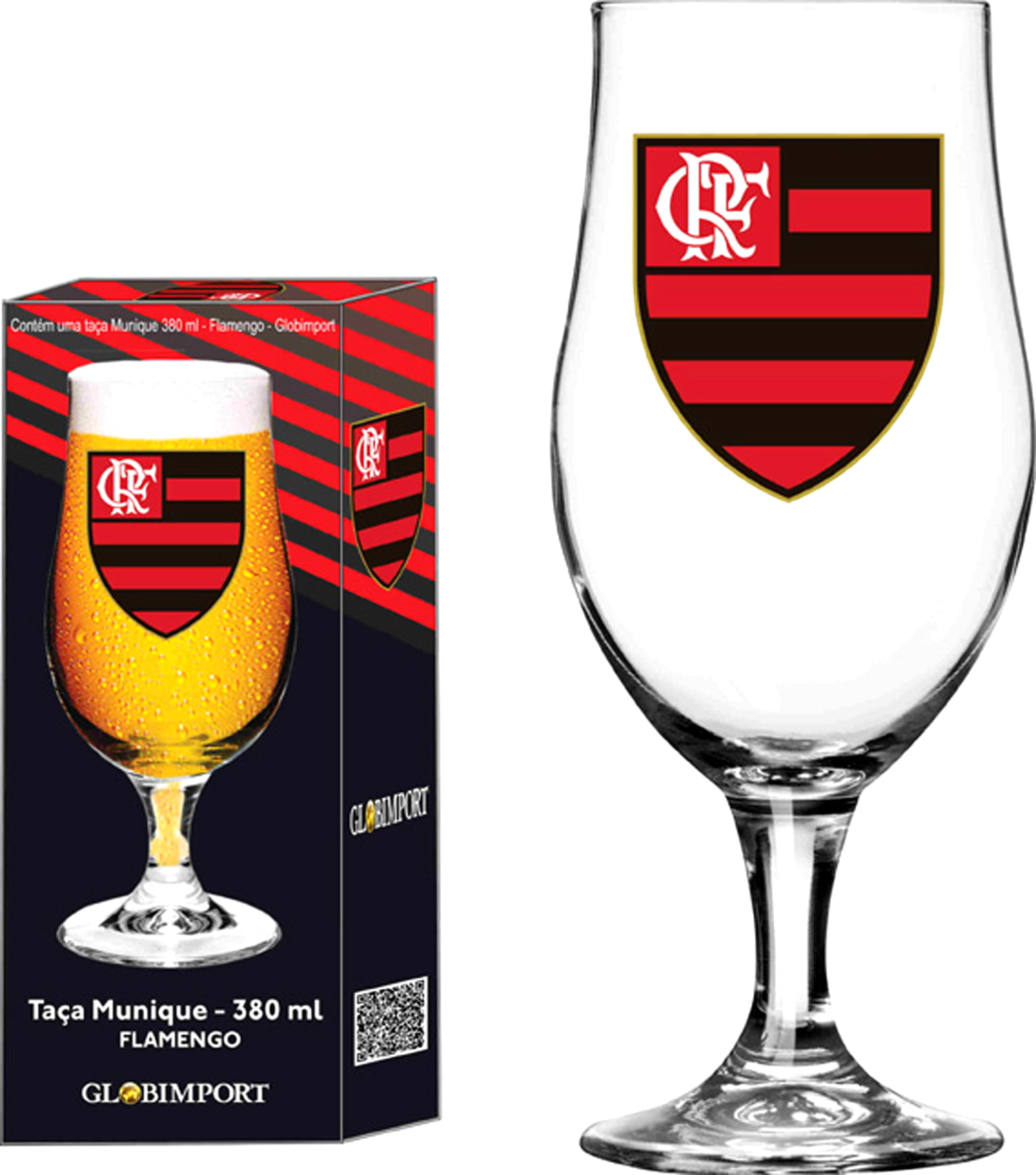 Taça Munique 380ml Flamengo Logo
